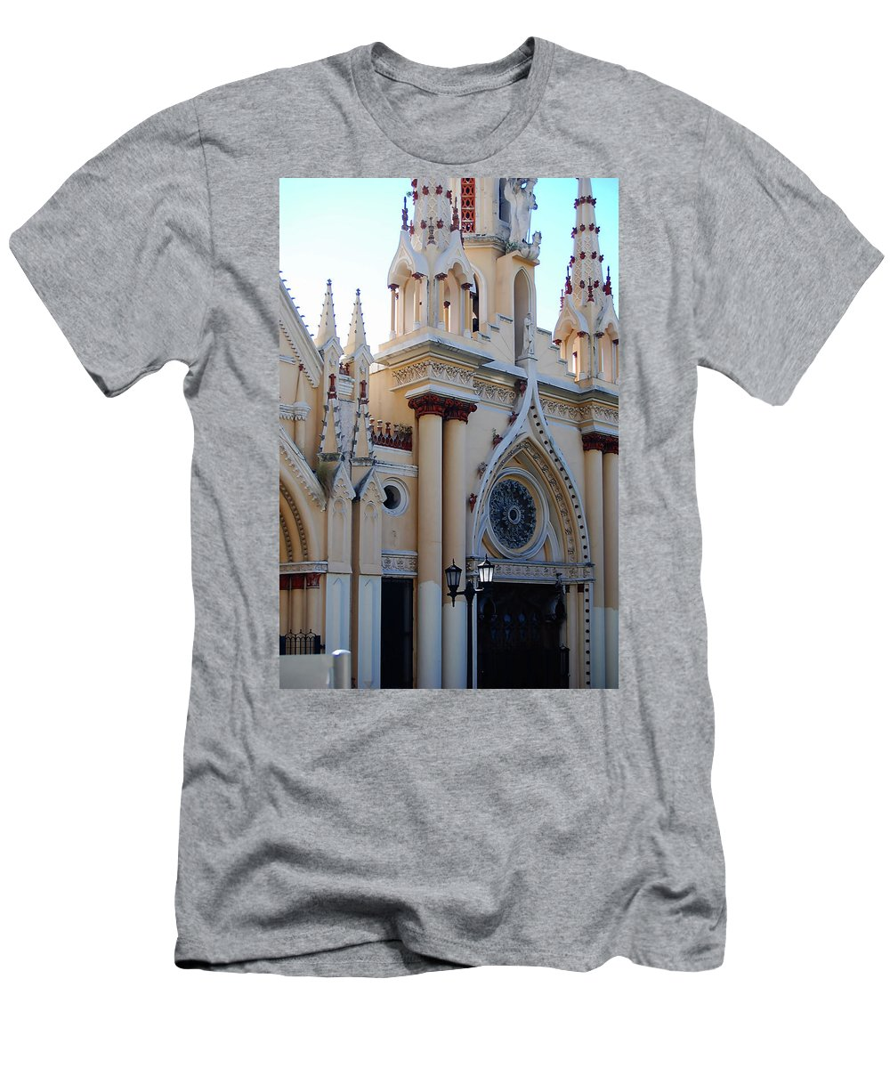 Church Men's T-Shirt (Athletic Fit) featuring the photograph Iglesia De Caracas by Galeria Trompiz