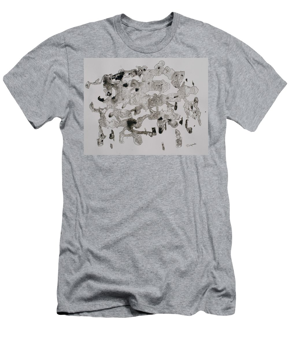 Abstract Art Men's T-Shirt (Athletic Fit) featuring the painting Illusioned Part 1 by Pushpak Chattopadhyay