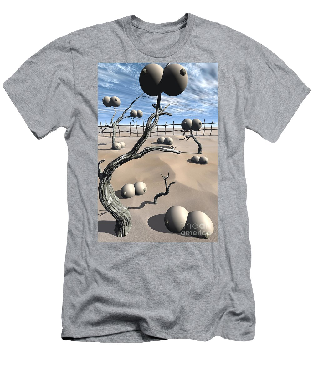 Humor Men's T-Shirt (Athletic Fit) featuring the digital art Imm Plants by Richard Rizzo
