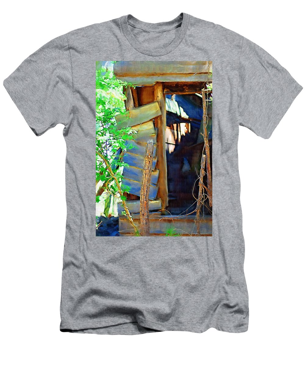 House Men's T-Shirt (Athletic Fit) featuring the photograph In Shambles by Donna Bentley