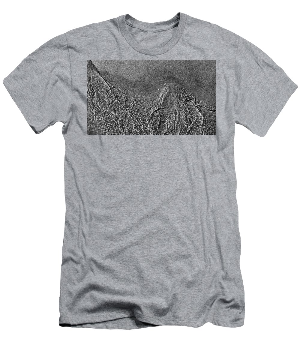 Abstract Men's T-Shirt (Athletic Fit) featuring the photograph In The Moment Bw Three by Lyle Crump