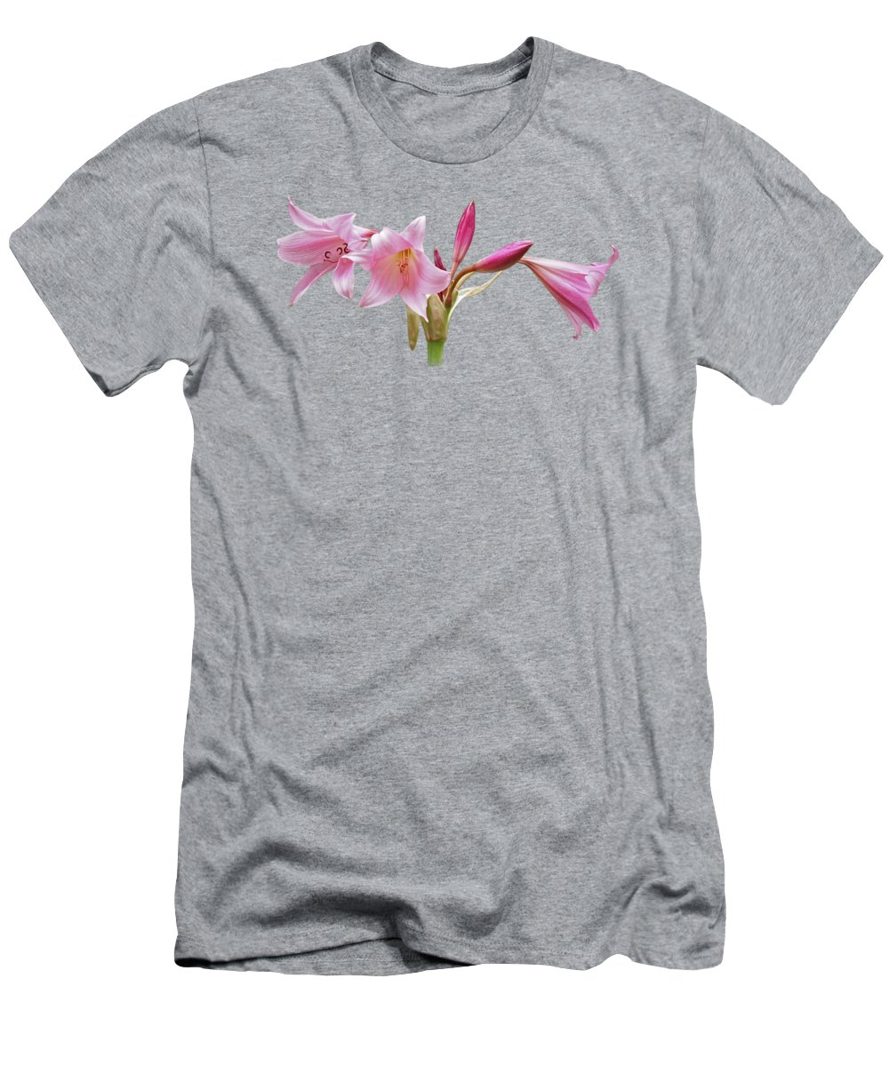 Lily T-Shirt featuring the photograph In The Pink by Gill Billington