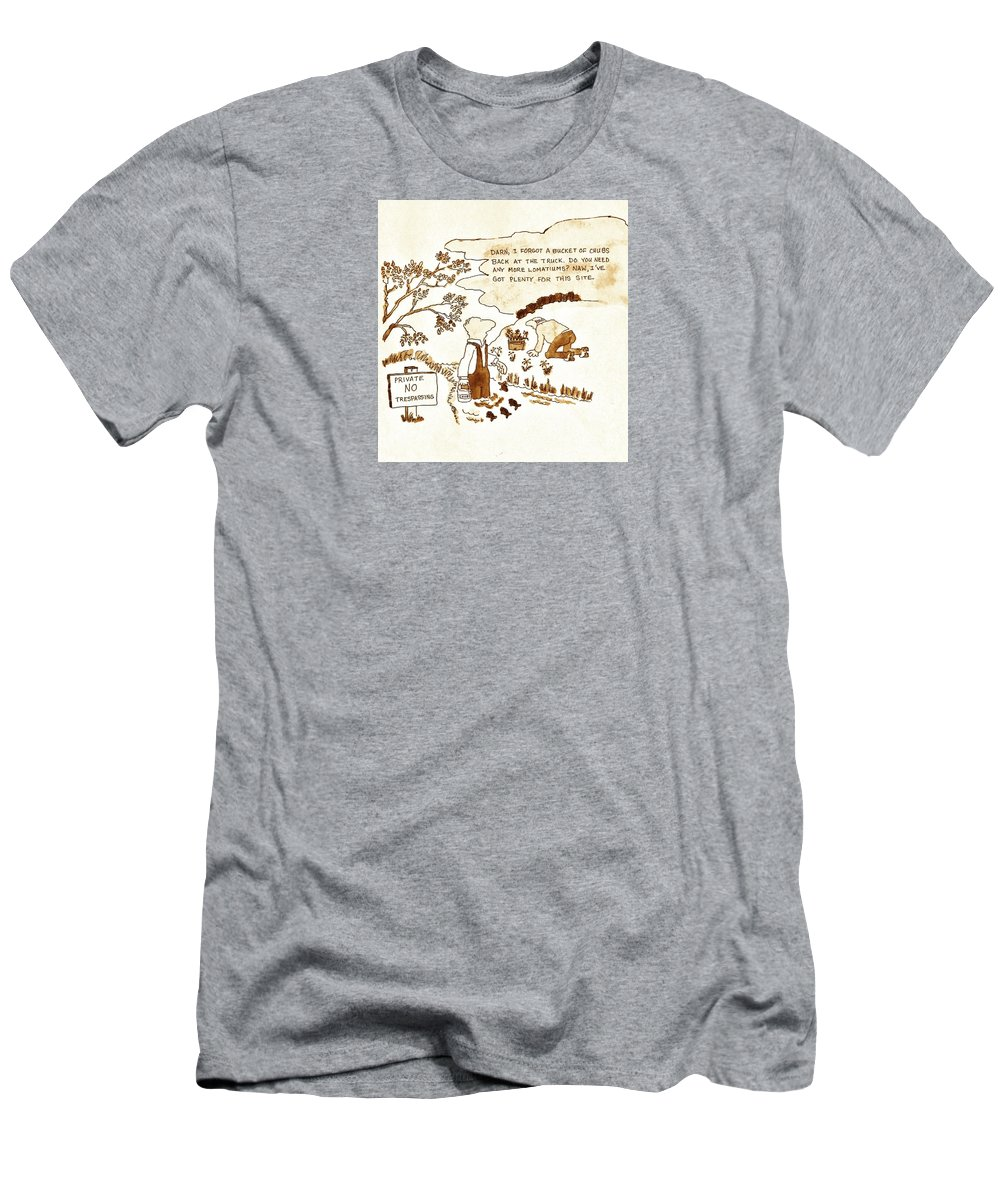 Farm Security Men's T-Shirt (Athletic Fit) featuring the painting Indangered Species by Larry Campbell