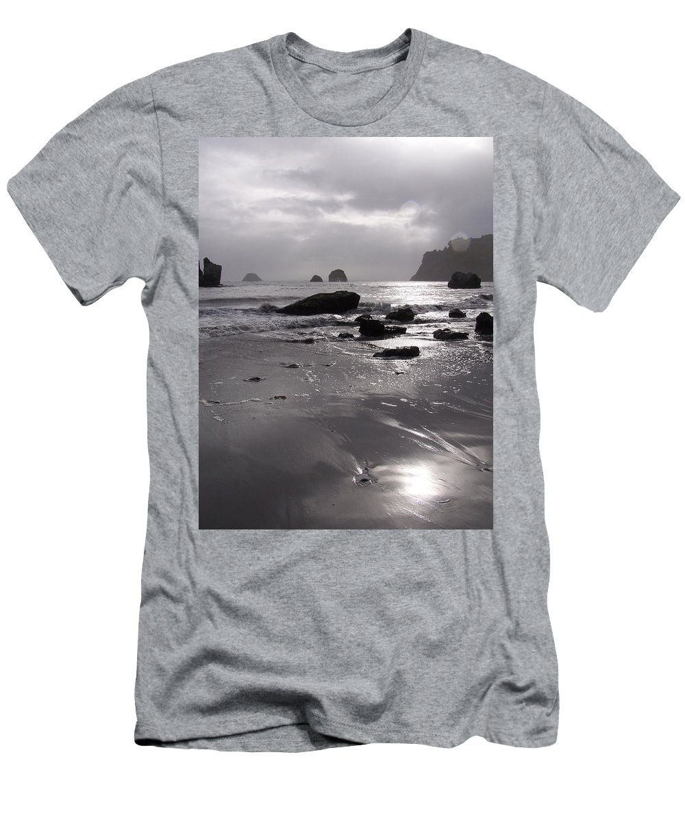 Beach Men's T-Shirt (Athletic Fit) featuring the photograph Indian Beach by Gale Cochran-Smith