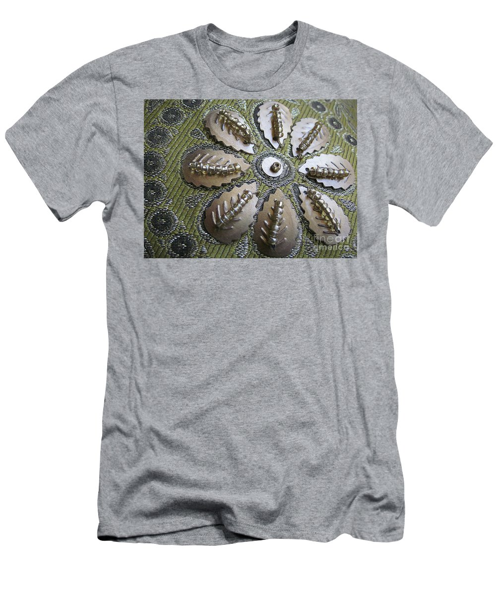 Indian Men's T-Shirt (Athletic Fit) featuring the digital art Indian Pillow by Elisabeth Lucas