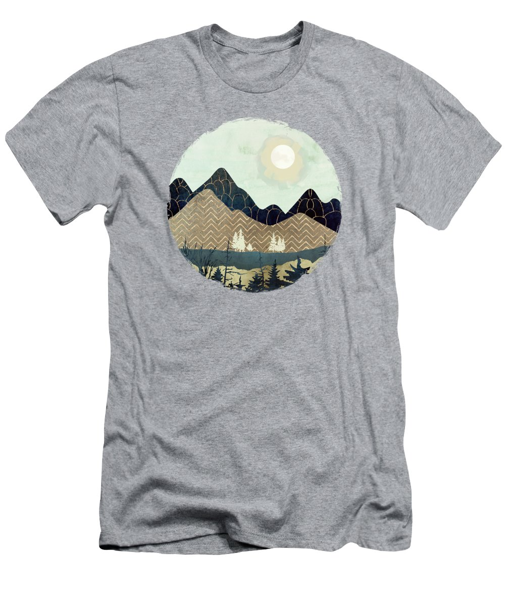 Indigo Men's T-Shirt (Athletic Fit) featuring the digital art Indigo Forest by Spacefrog Designs