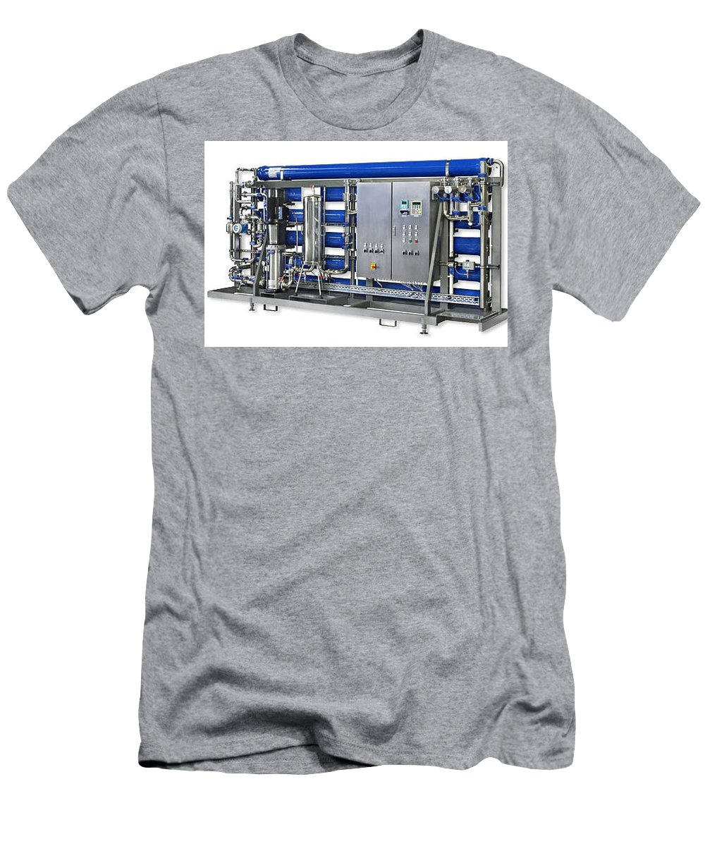 Industrial Ro Plant Men's T-Shirt (Athletic Fit) featuring the photograph Industrial Ro Plant by Kinjal Shah
