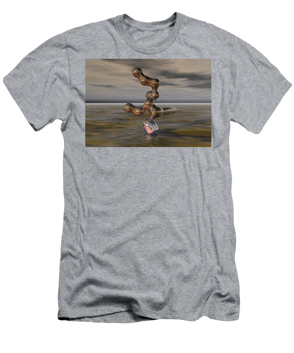 Digital Painting Men's T-Shirt (Athletic Fit) featuring the digital art Innovation The Leap Of Imagination by David Lane