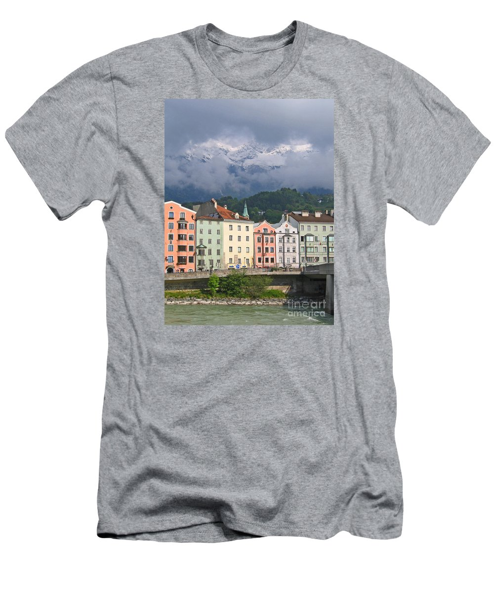 Innsbruck Men's T-Shirt (Athletic Fit) featuring the photograph Innsbruck by Ann Horn