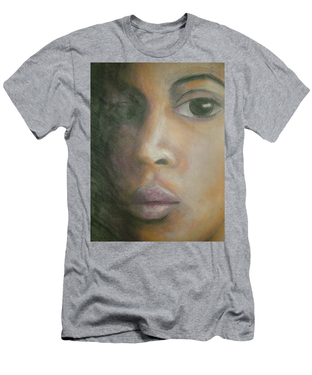 Men's T-Shirt (Athletic Fit) featuring the drawing Inside The Soul by Jan Gilmore
