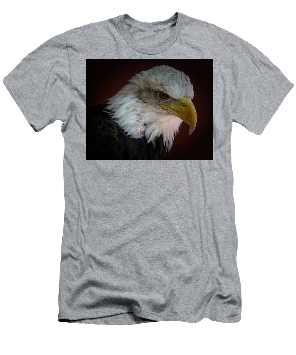 Bald Eagle Men's T-Shirt (Athletic Fit) featuring the photograph Intensity by Randy Hall