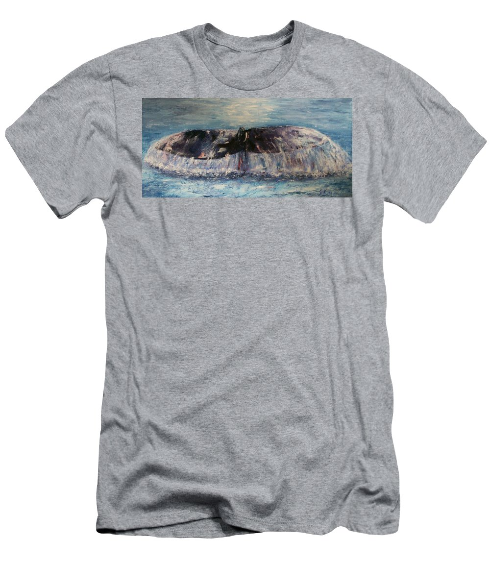 Seascape Men's T-Shirt (Athletic Fit) featuring the painting Into The Deep by Stephen King