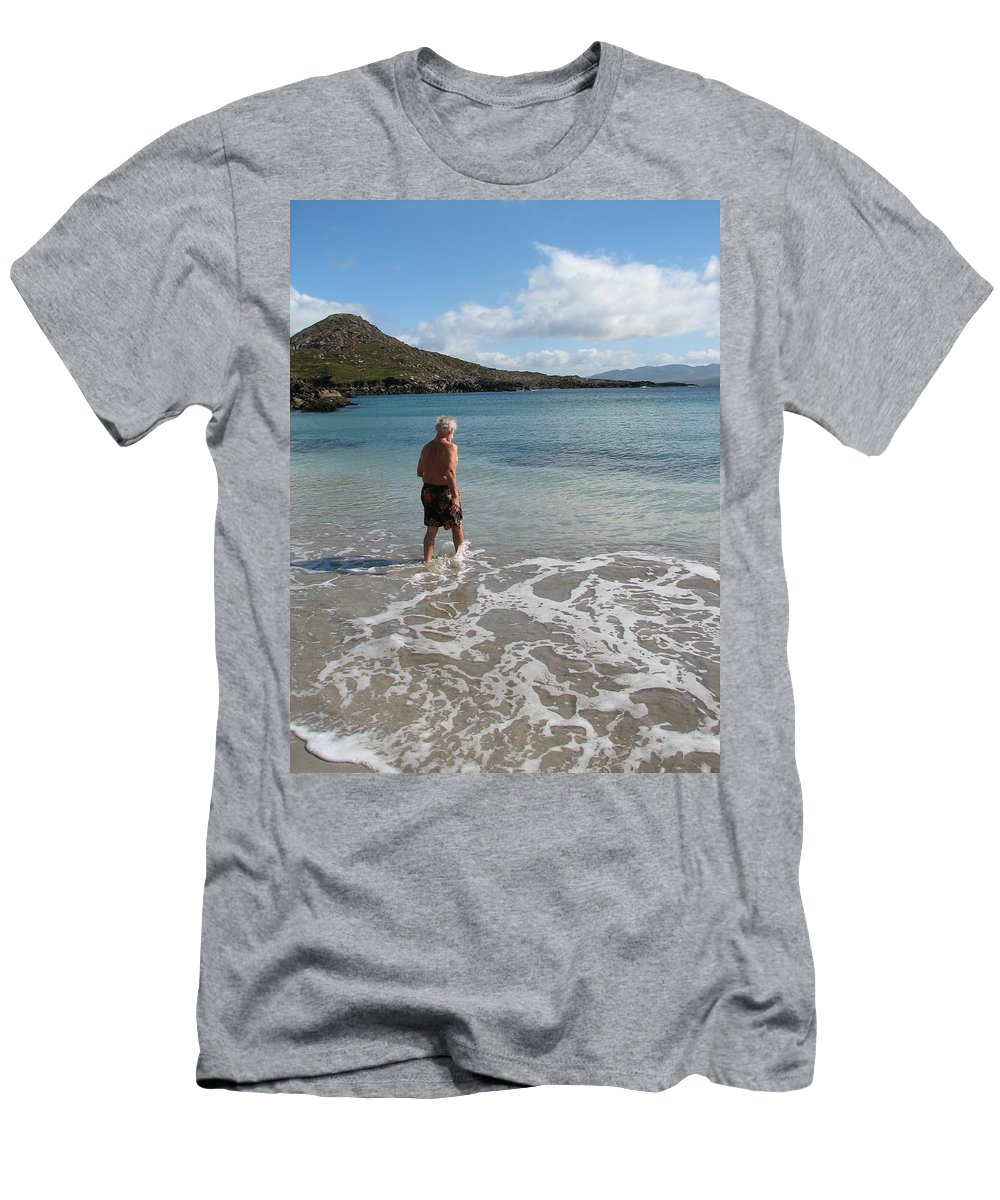 Ireland T-Shirt featuring the photograph Into The Freeze by Kelly Mezzapelle