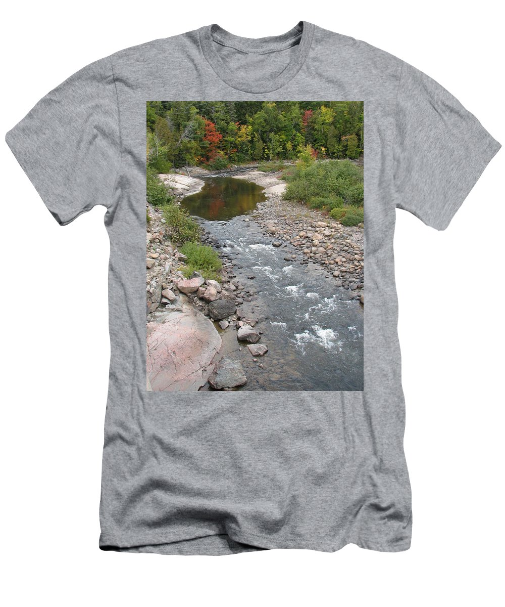 Water Men's T-Shirt (Athletic Fit) featuring the photograph Into The Woods by Kelly Mezzapelle