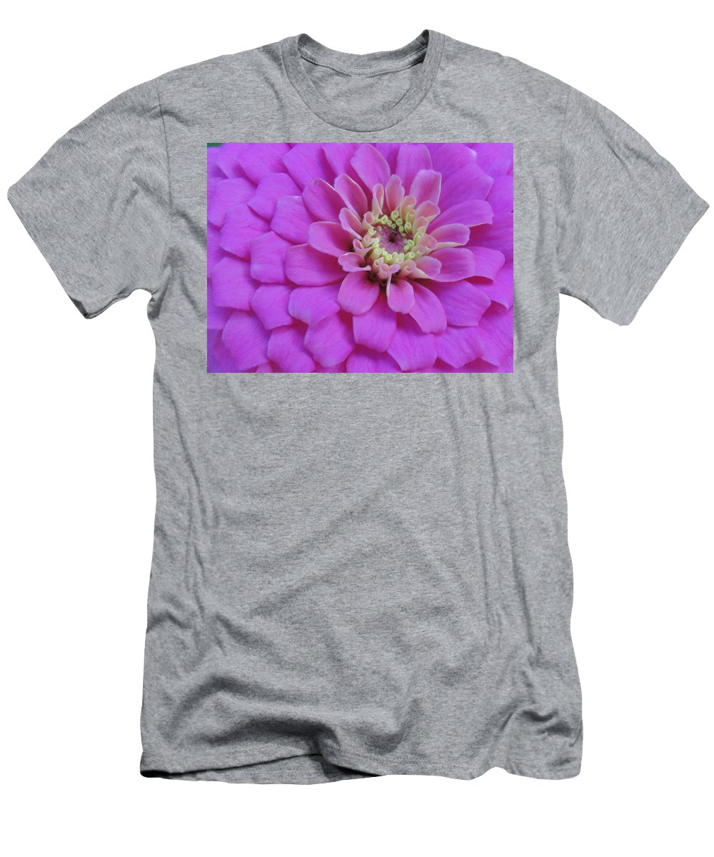 Pink Men's T-Shirt (Athletic Fit) featuring the photograph Irridescent Pink by Cathi Abbiss Crane