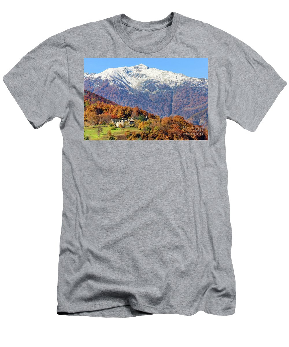 Alps Men's T-Shirt (Athletic Fit) featuring the photograph Italian Alps by Silvia Ganora