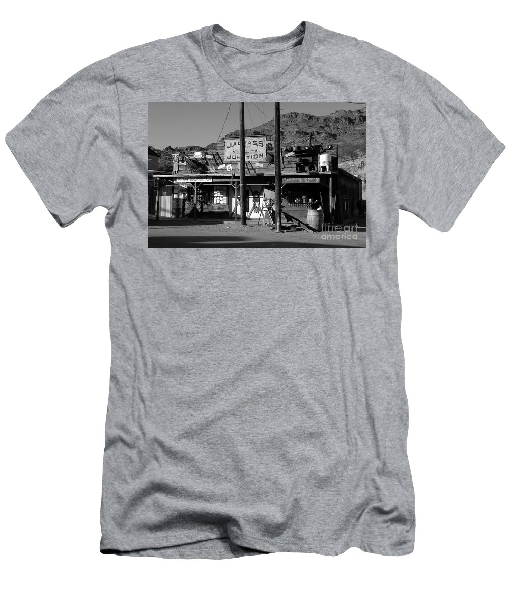 Arizona Men's T-Shirt (Athletic Fit) featuring the photograph Jackass Junction by David Lee Thompson