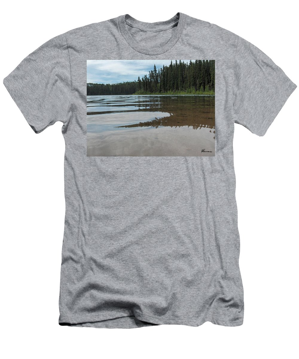 Jade Lake Piprell Lake Hanson Lake Road Northern Saskatchewan Water Clear Forest Trees Men's T-Shirt (Athletic Fit) featuring the photograph Jade Lake by Andrea Lawrence