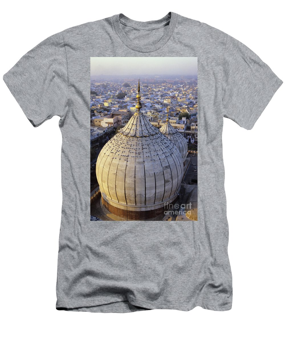 Above Men's T-Shirt (Athletic Fit) featuring the photograph Jami Masjid Aerial by Gloria & Richard Maschmeyer - Printscapes