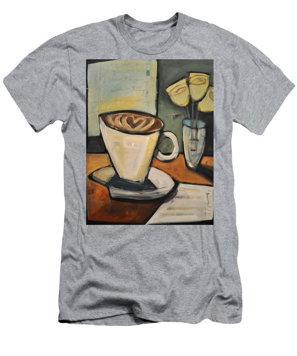 Java Men's T-Shirt (Athletic Fit) featuring the painting Java Love by Tim Nyberg