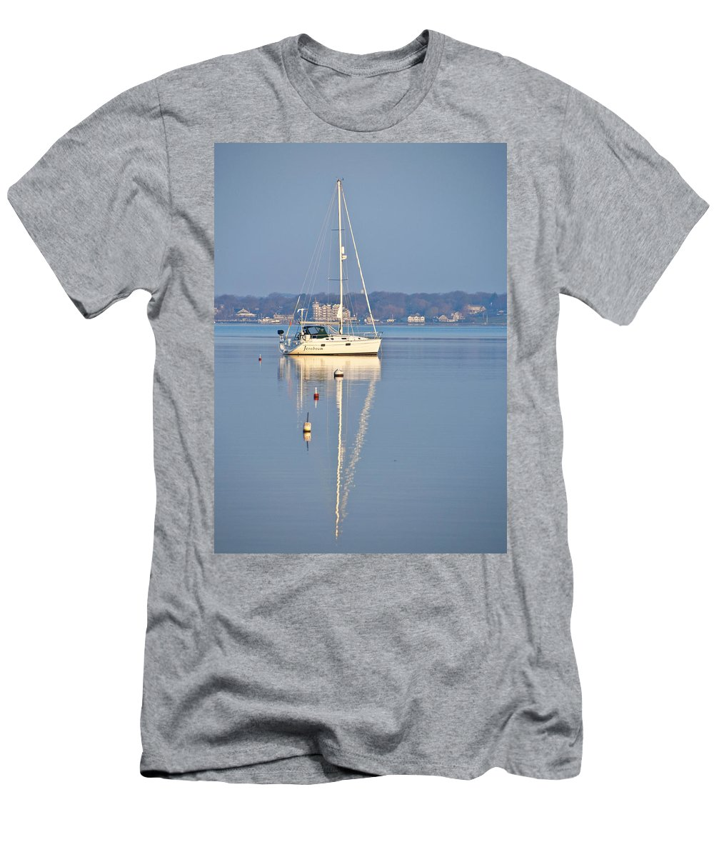 Yacht Men's T-Shirt (Athletic Fit) featuring the photograph Jerobaum by Steven Natanson