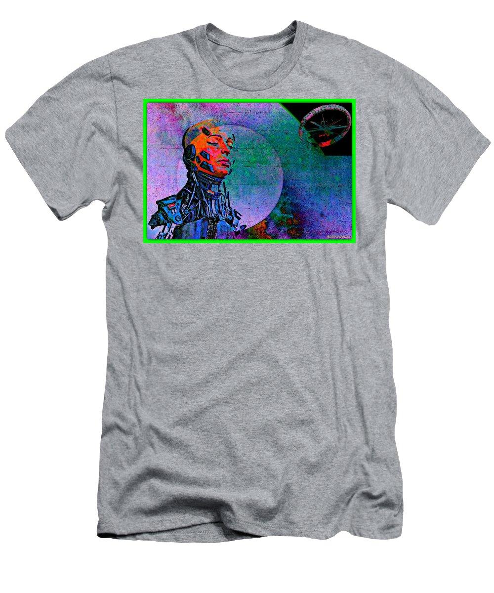 Jive Bot/robotics And Consciousness/she Had Left Her Robotic Body/ Men's T-Shirt (Athletic Fit) featuring the digital art Jive Bot/robotics And Consciousness/she Had Left Her Robotic Body/ by Tony Adamo