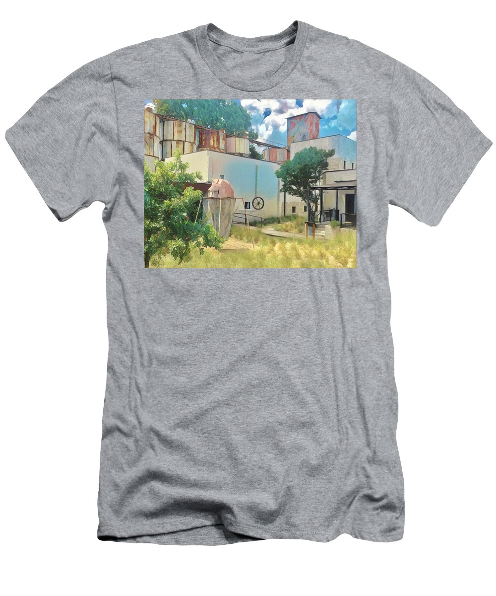 Johnson City Men's T-Shirt (Athletic Fit) featuring the digital art Johnson City, Texas 2 by Wendy Biro-Pollard