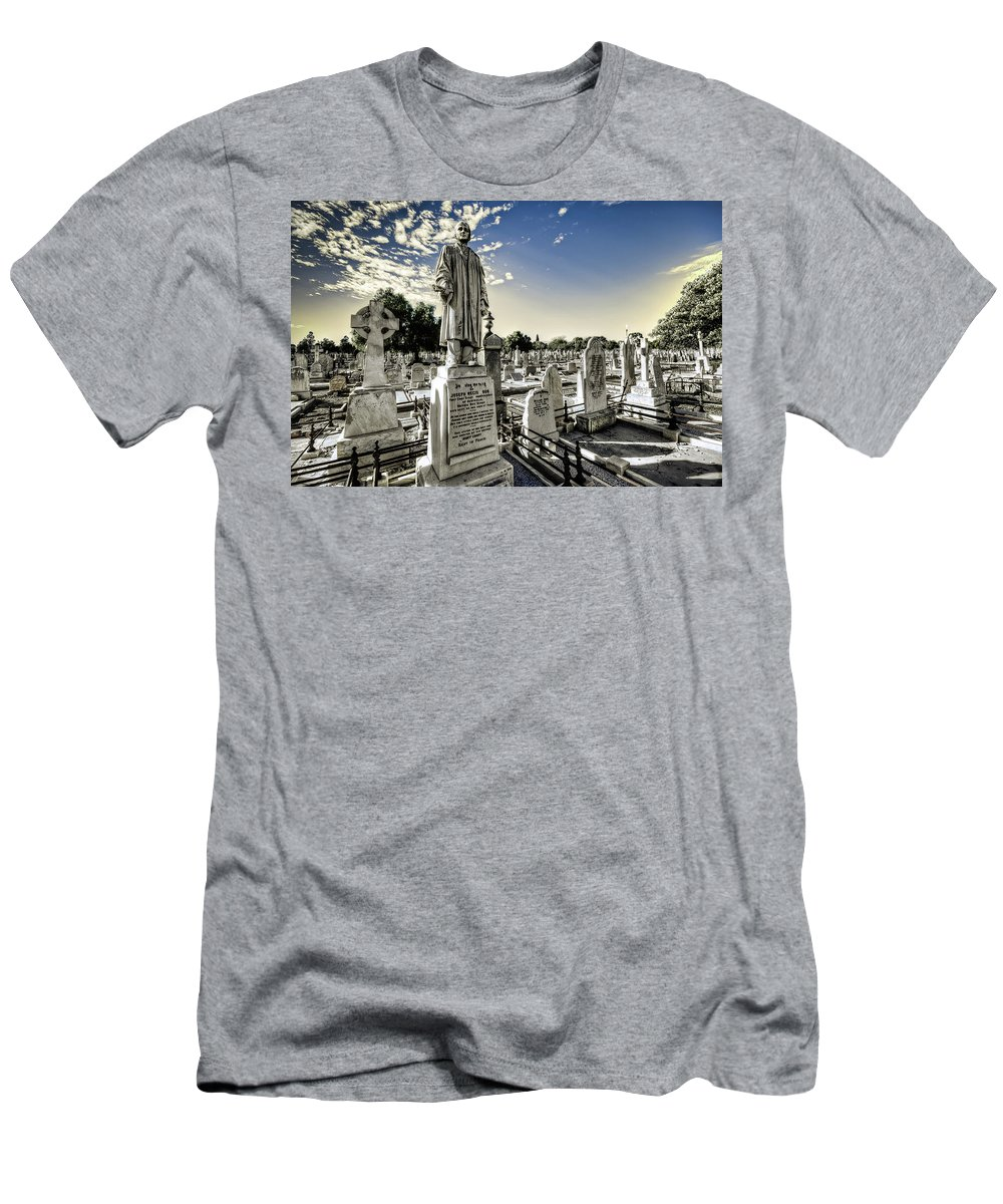 Cemetery Men's T-Shirt (Athletic Fit) featuring the photograph Joseph by Wayne Sherriff