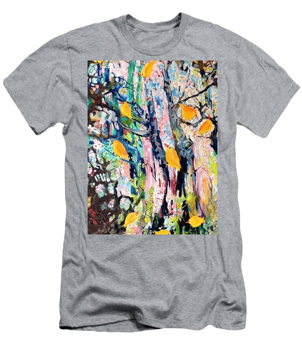 Trees Men's T-Shirt (Athletic Fit) featuring the painting June Twitter by Chris Walker
