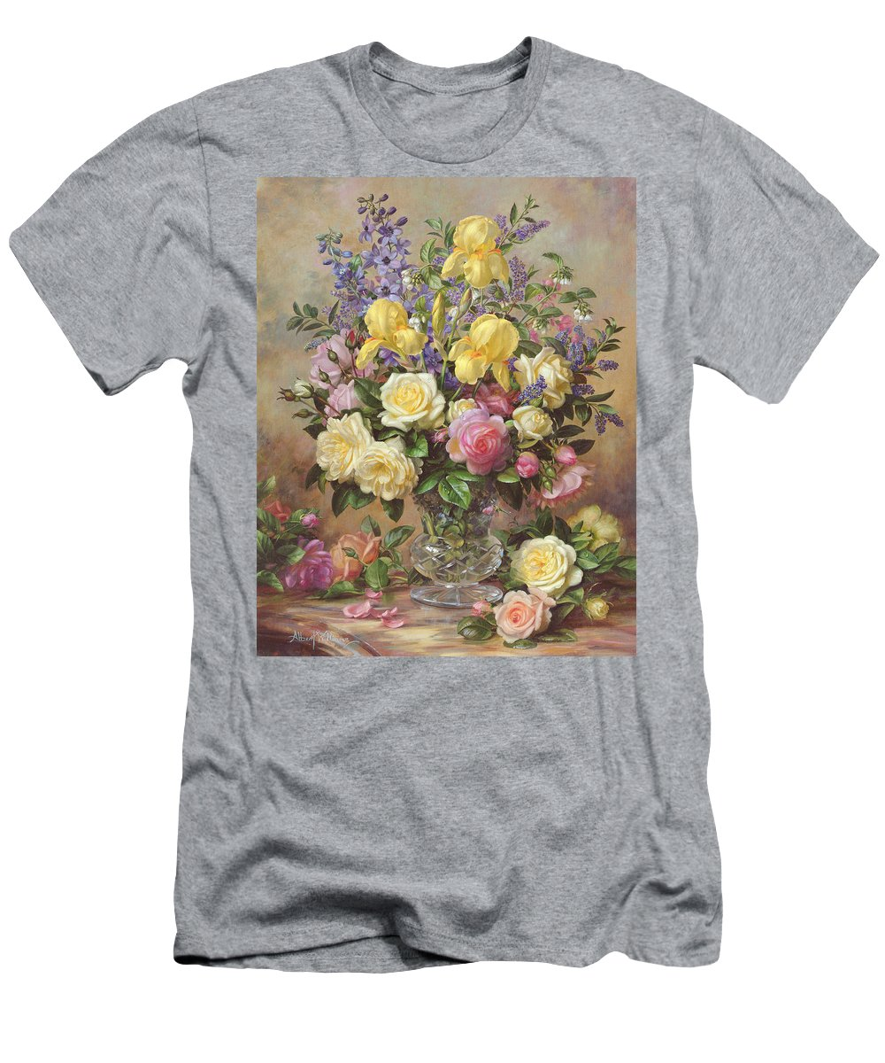 June Men's T-Shirt (Athletic Fit) featuring the painting June's Floral Glory by Albert Williams