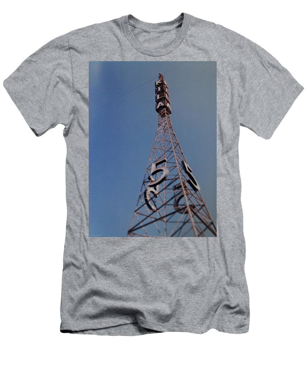 Hollywood Men's T-Shirt (Athletic Fit) featuring the photograph K T L A Channel 5 by Rob Hans
