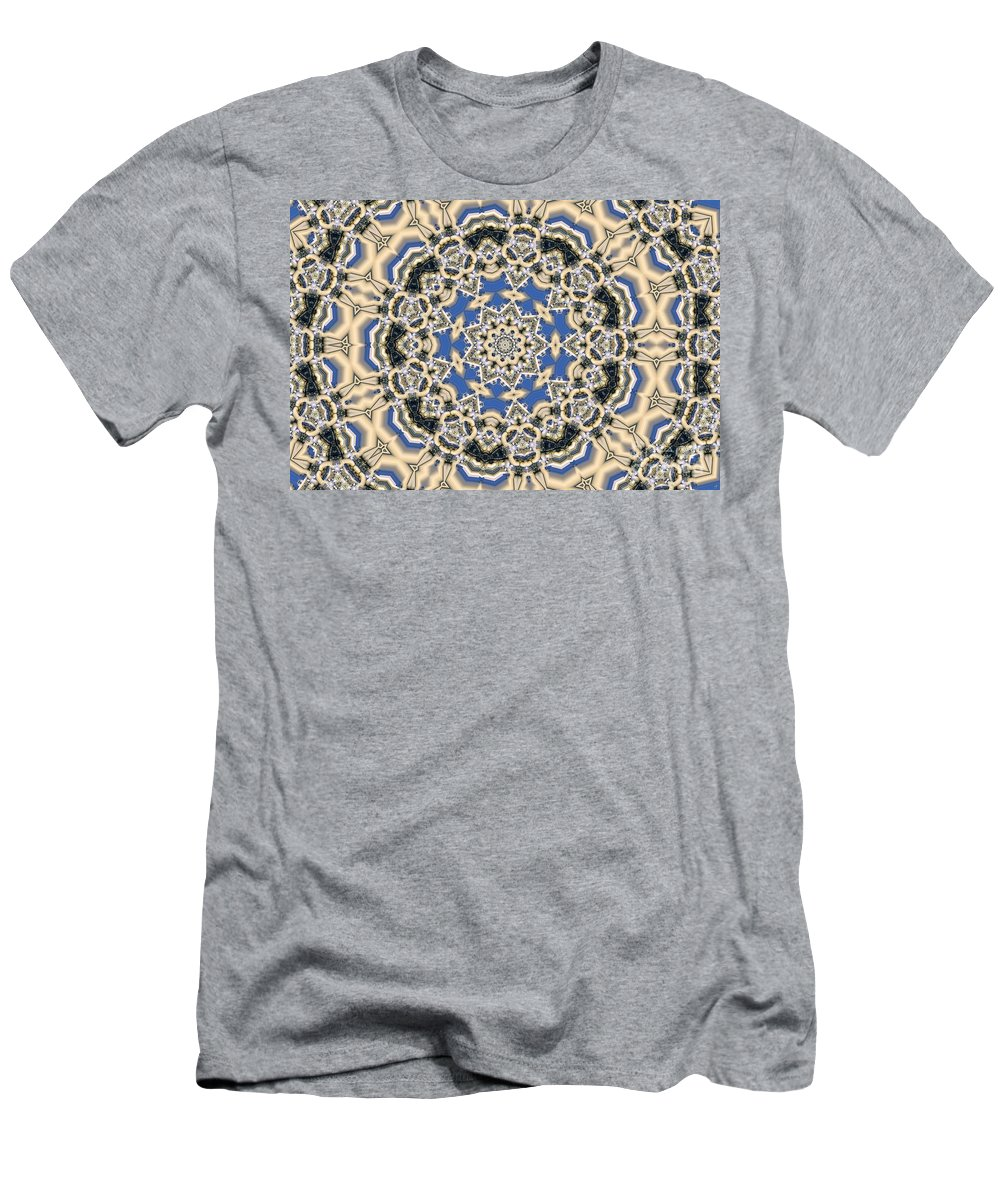 Kaleidoscope Men's T-Shirt (Athletic Fit) featuring the digital art Kaleidoscope 77 by Ron Bissett