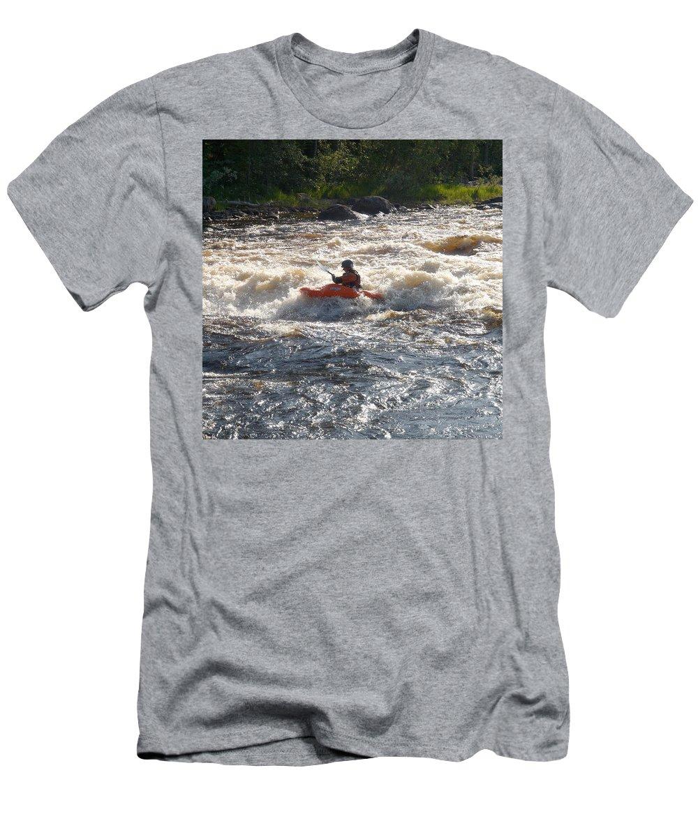 Lehtokukka Men's T-Shirt (Athletic Fit) featuring the photograph Kayak 1 by Jouko Lehto