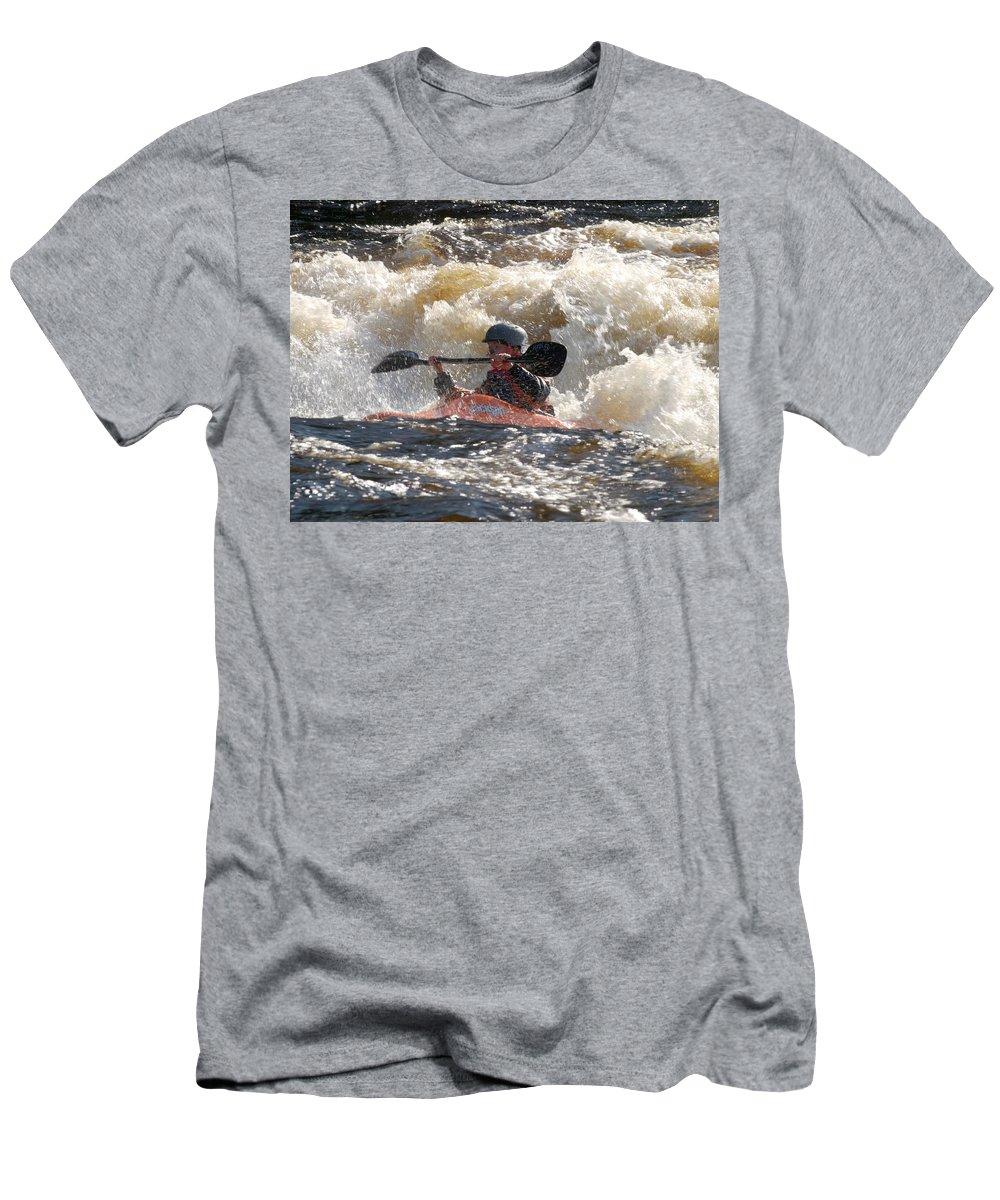 Lehtokukka Men's T-Shirt (Athletic Fit) featuring the photograph Kayak 6 by Jouko Lehto