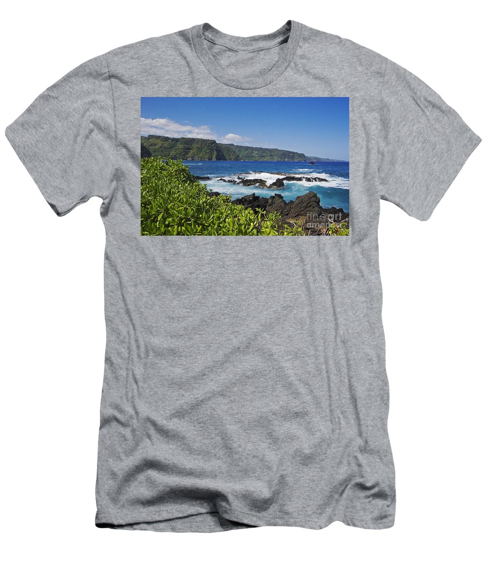 Beautiful Men's T-Shirt (Athletic Fit) featuring the photograph Keanae Peninsula, View by Ron Dahlquist - Printscapes