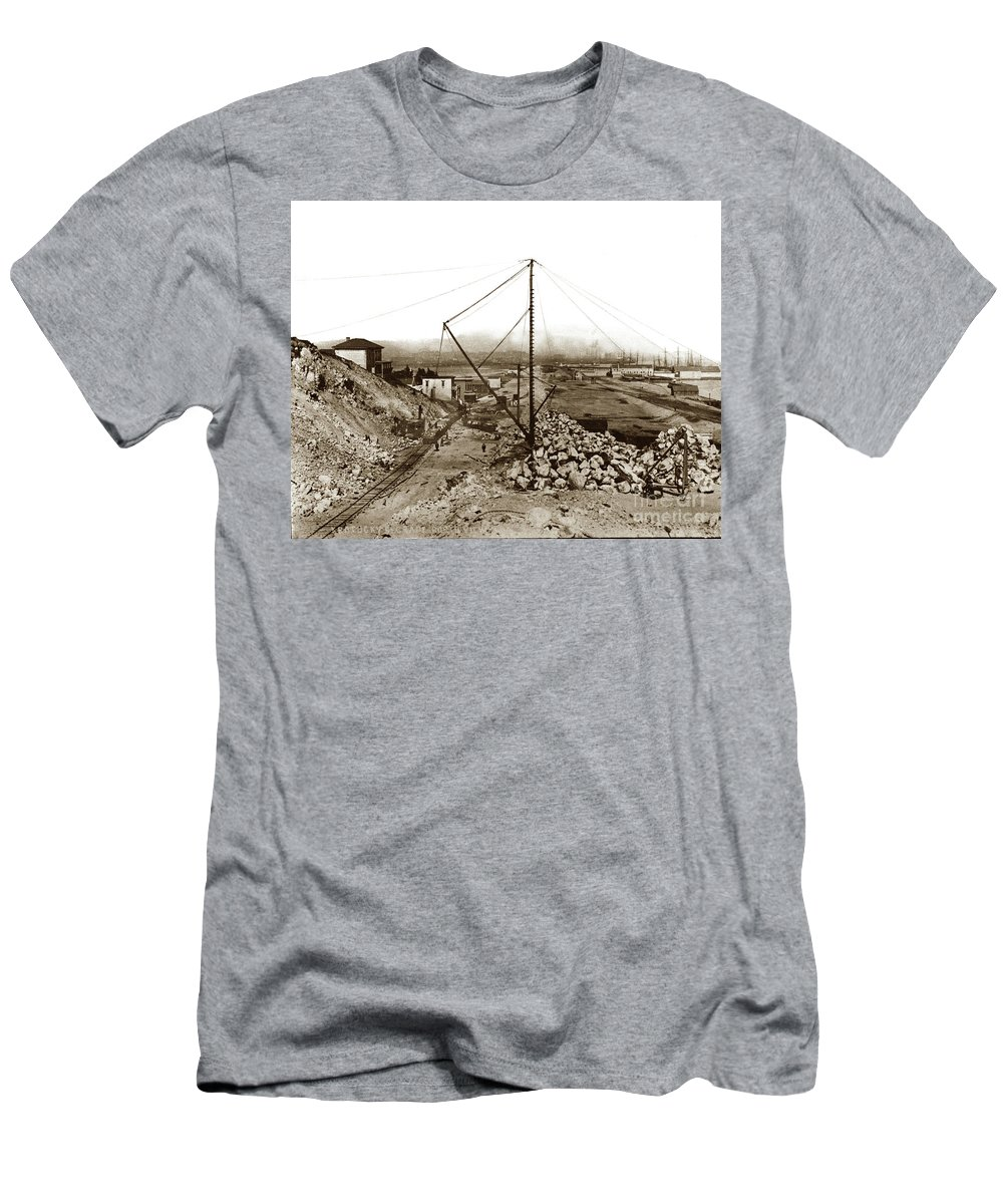 Kentucky Street Men's T-Shirt (Athletic Fit) featuring the photograph Kentucky Street Grand Port View Now 3rd Street Grading Work, C by California Views Archives Mr Pat Hathaway Archives