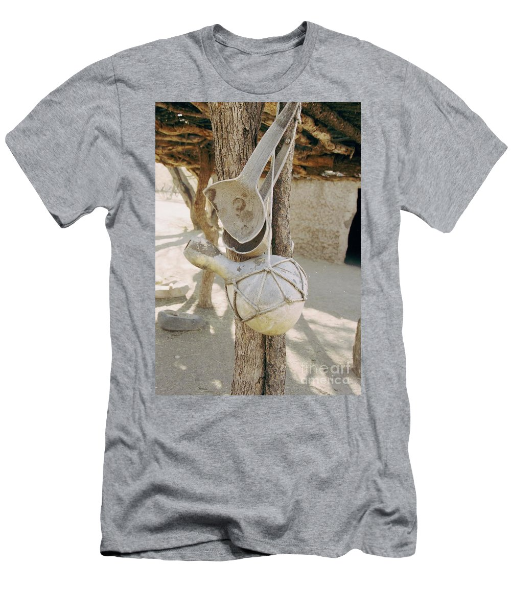 Tumacacori Men's T-Shirt (Athletic Fit) featuring the photograph Kitchen Utensils by Kathy McClure