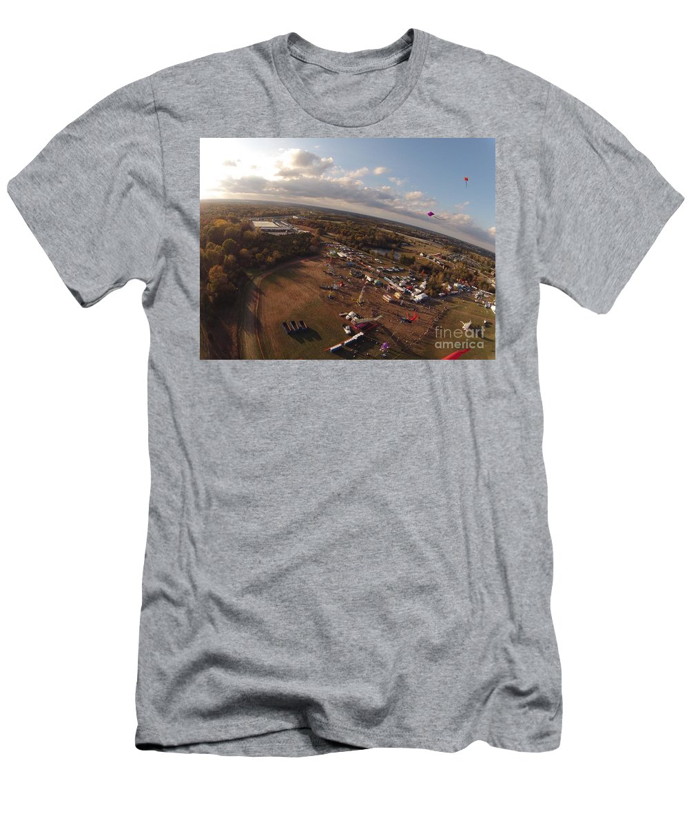 Kite Men's T-Shirt (Athletic Fit) featuring the photograph Kites Over Carnival by John Franke
