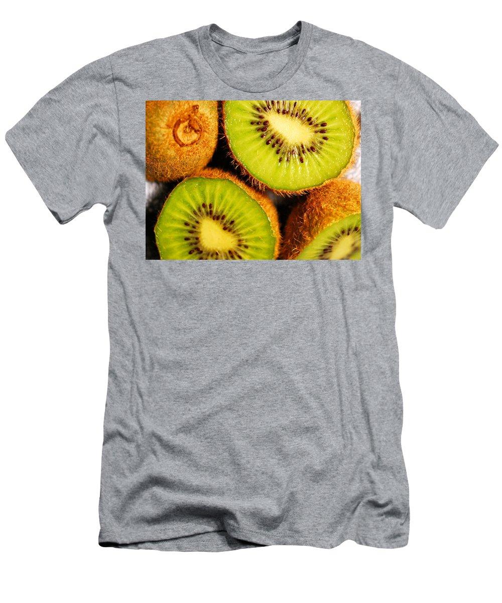 Kiwi Men's T-Shirt (Athletic Fit) featuring the photograph Kiwi Fruit by Nancy Mueller