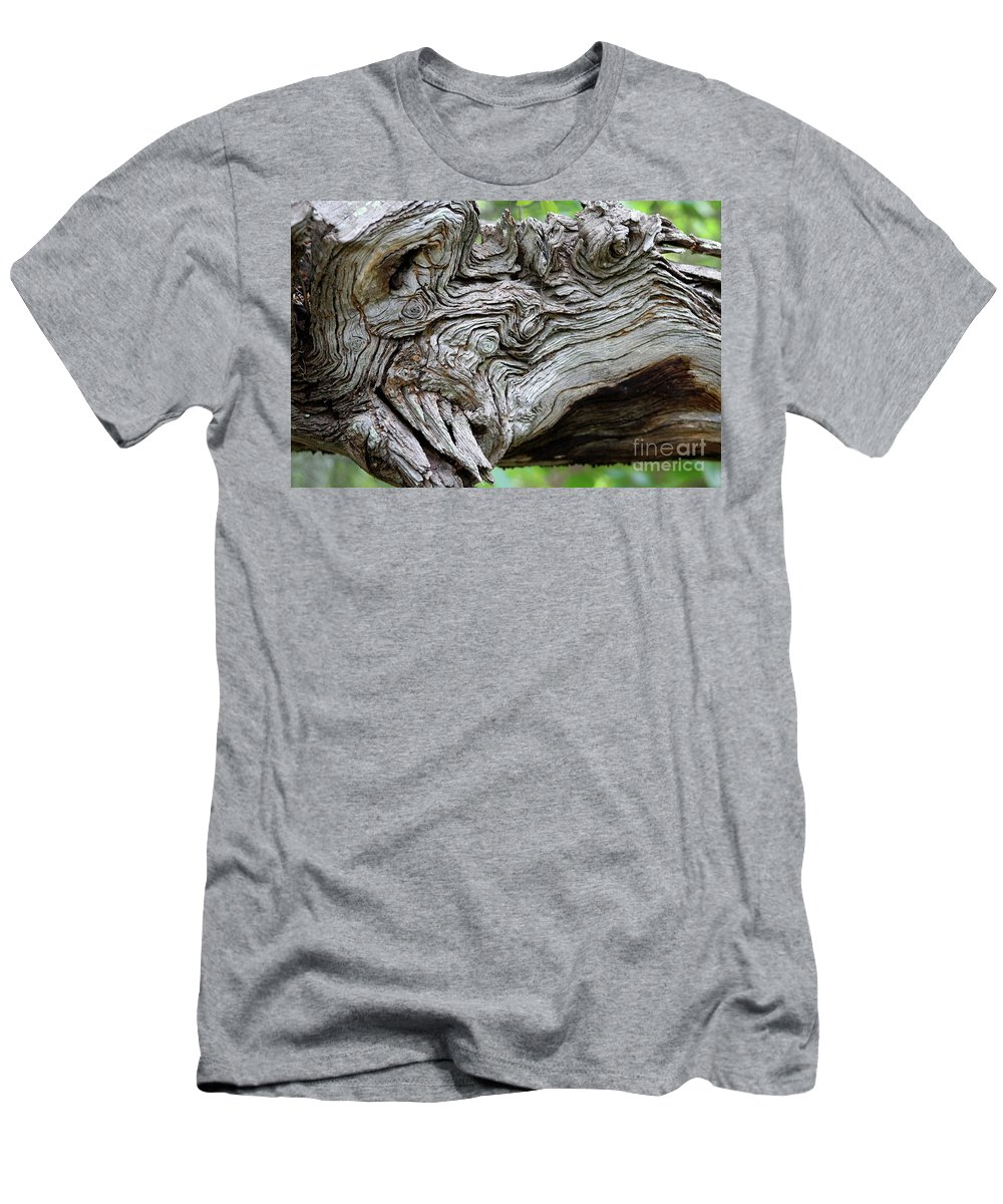 Knotty Tree Men's T-Shirt (Athletic Fit) featuring the photograph Knotty Tree by Christiane Schulze Art And Photography