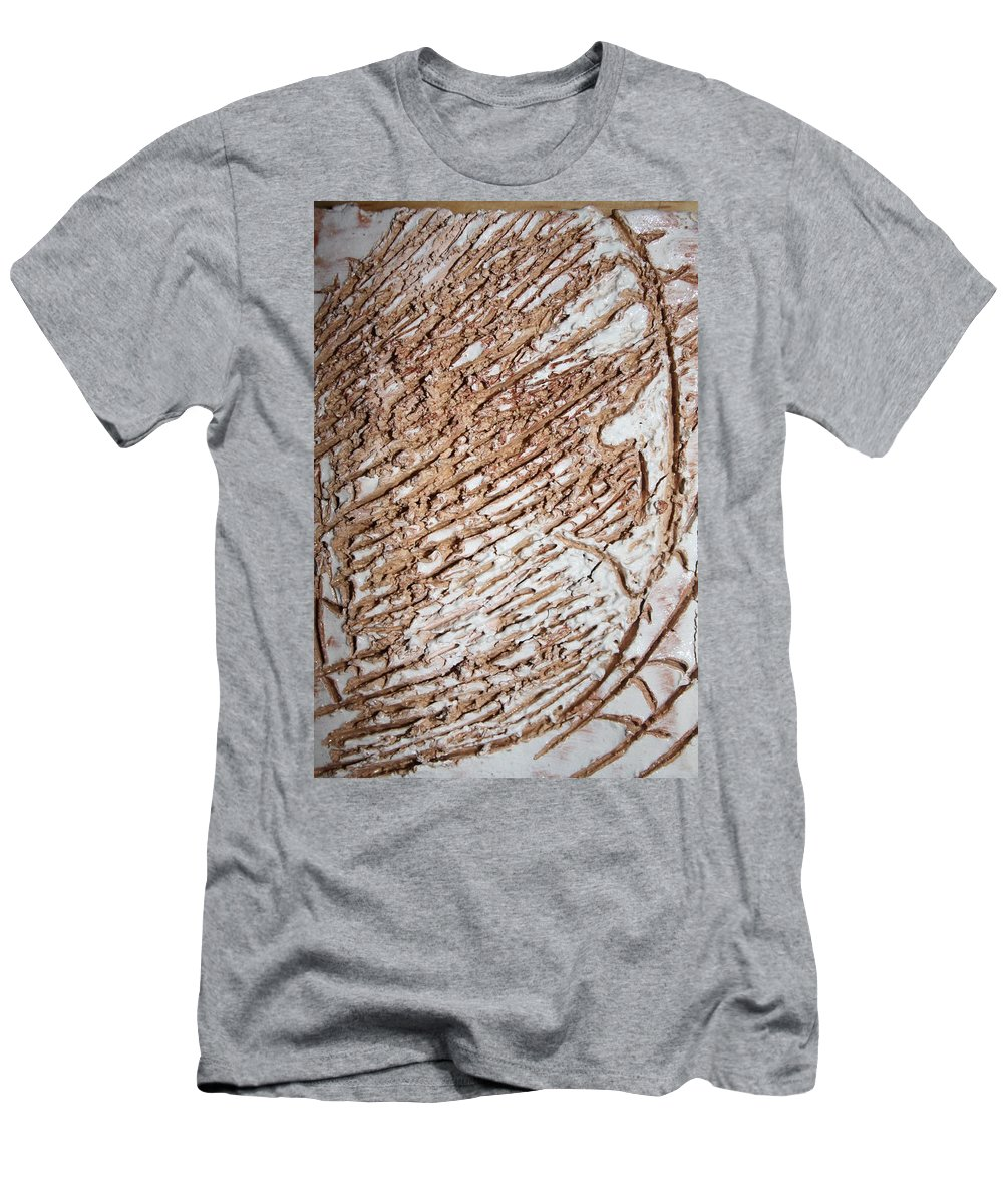 Jesus Men's T-Shirt (Athletic Fit) featuring the ceramic art Kumba - Tile by Gloria Ssali