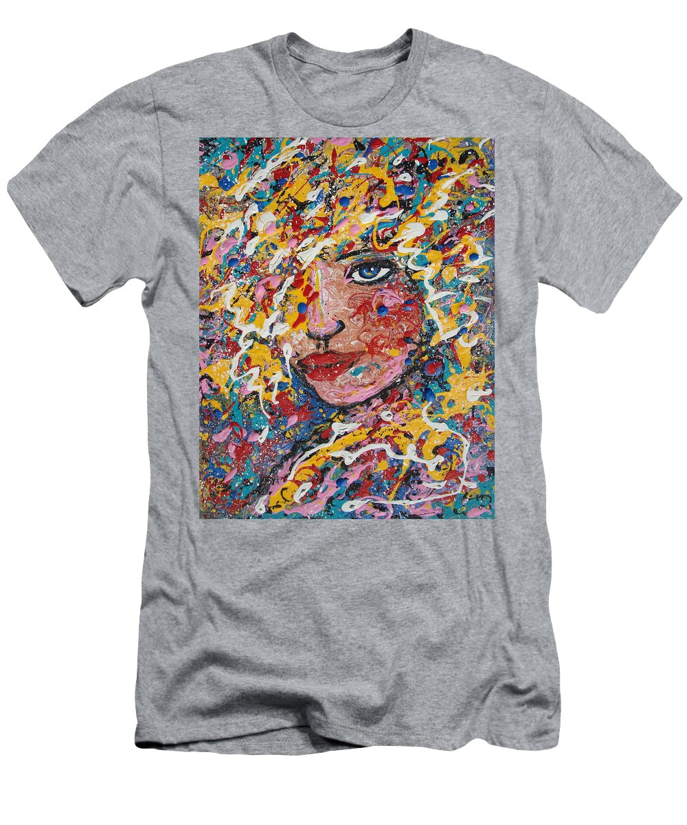 Woman Men's T-Shirt (Athletic Fit) featuring the painting Kuziana by Natalie Holland
