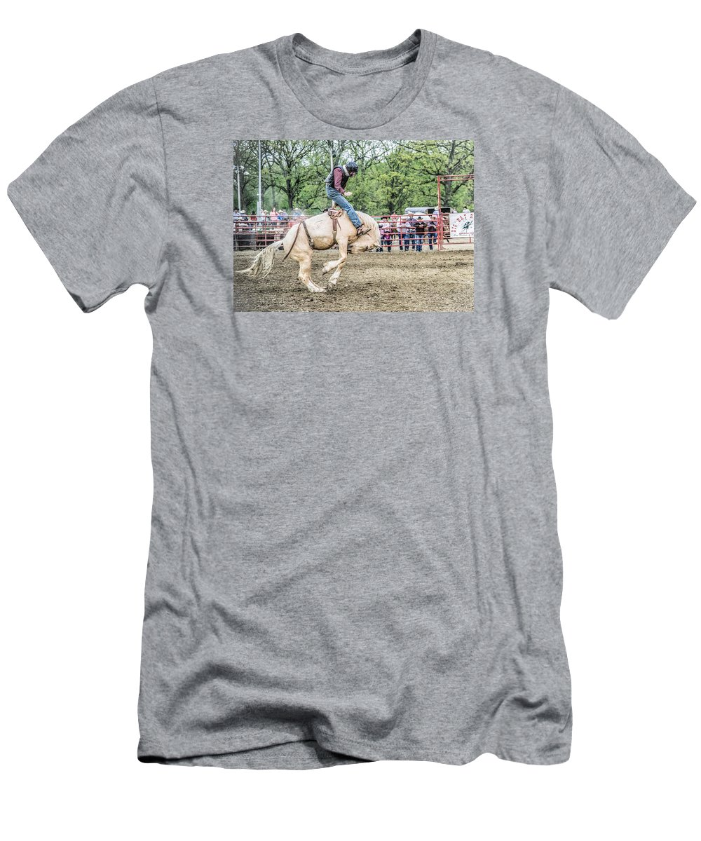 Orange & Blue Rodeo Men's T-Shirt (Athletic Fit) featuring the photograph L by Terry Brown