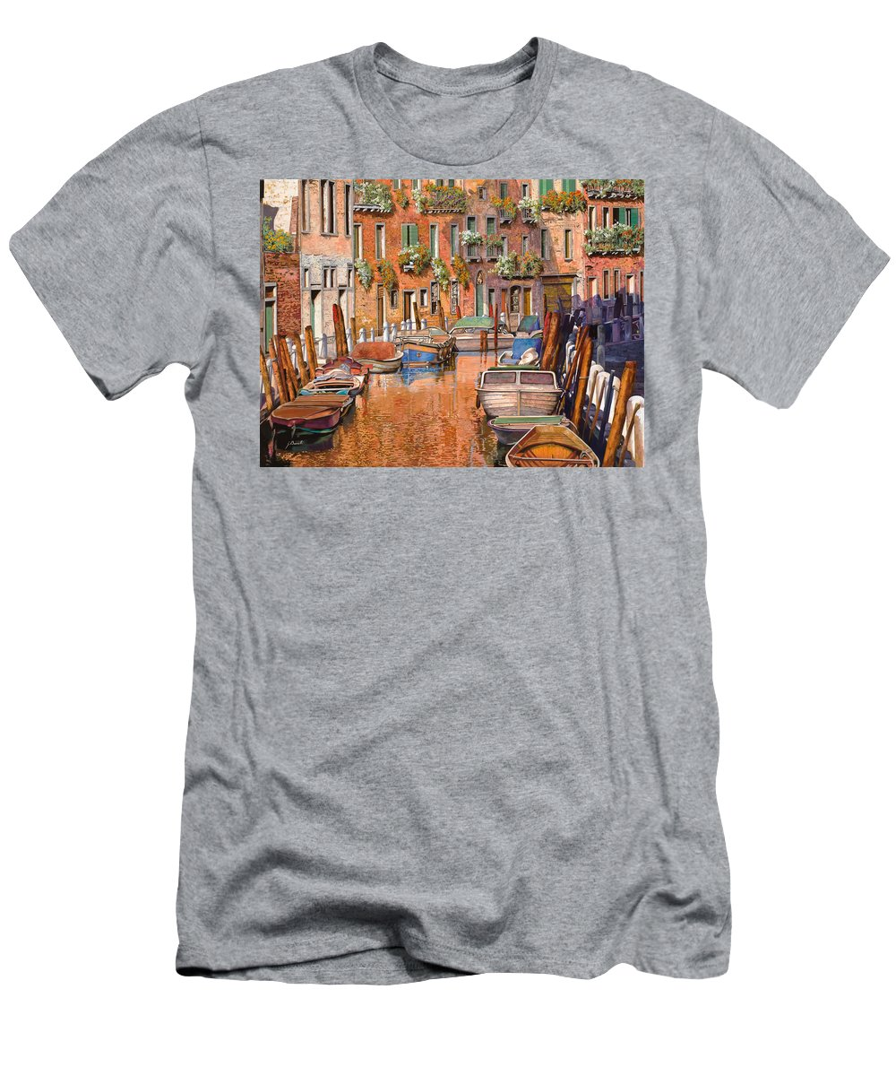 Venice Men's T-Shirt (Athletic Fit) featuring the painting La Curva Sul Canale by Guido Borelli