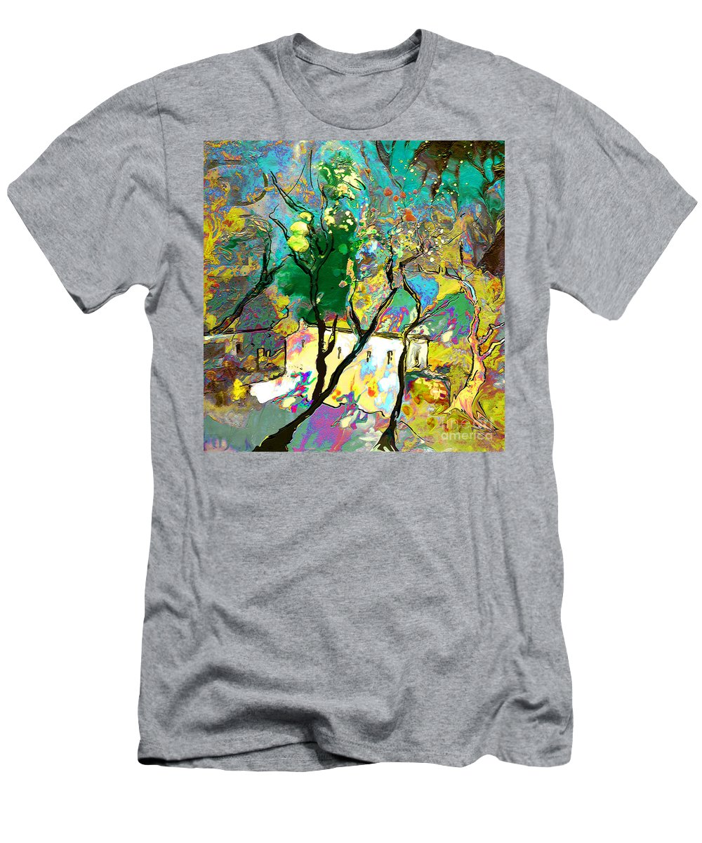 Miki Men's T-Shirt (Athletic Fit) featuring the painting La Provence 16 by Miki De Goodaboom