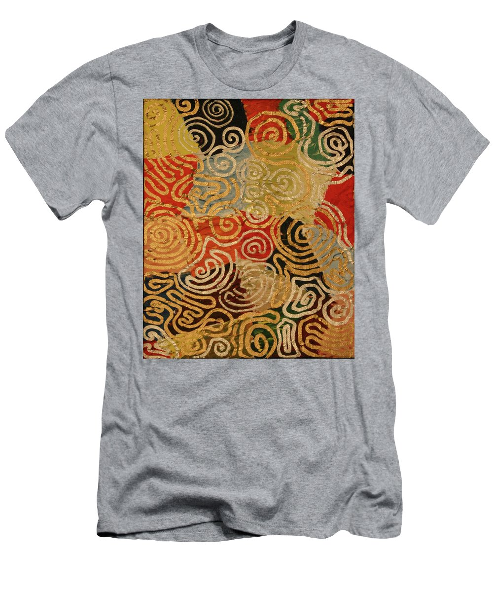Drawing Men's T-Shirt (Athletic Fit) featuring the painting Labyrinth by Gideon Cohn