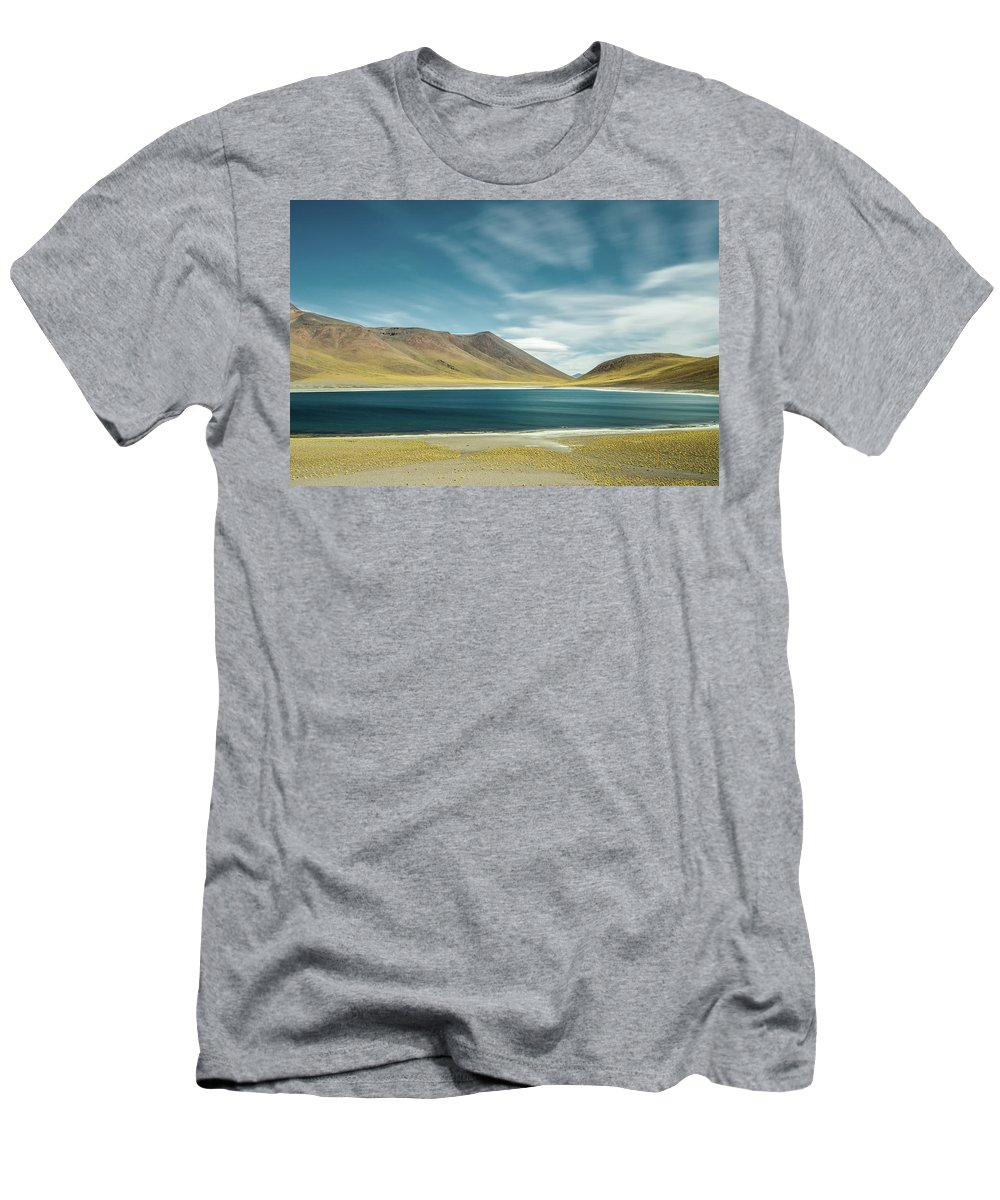 Landscape Men's T-Shirt (Athletic Fit) featuring the photograph Laguna Miniques by Victor Lima