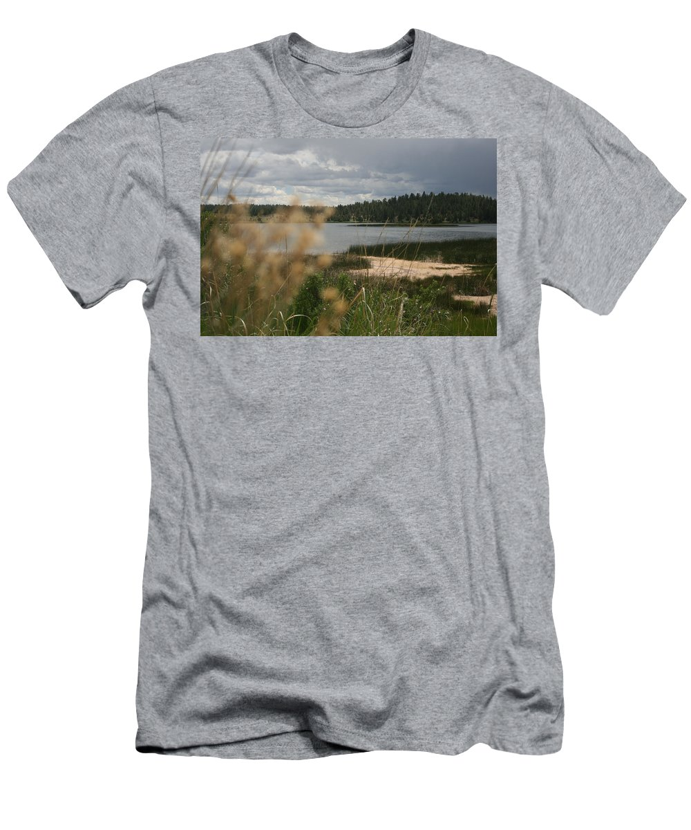 Lake Men's T-Shirt (Athletic Fit) featuring the photograph Lake by Ashlyn Yates