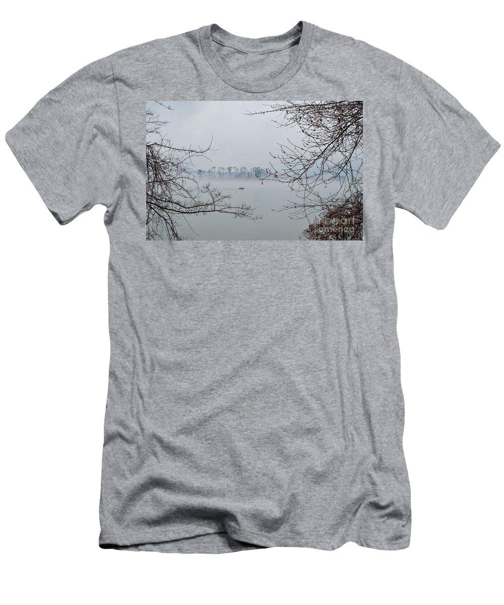Fishing Men's T-Shirt (Athletic Fit) featuring the photograph Lake Guntersville by Bernd Billmayer