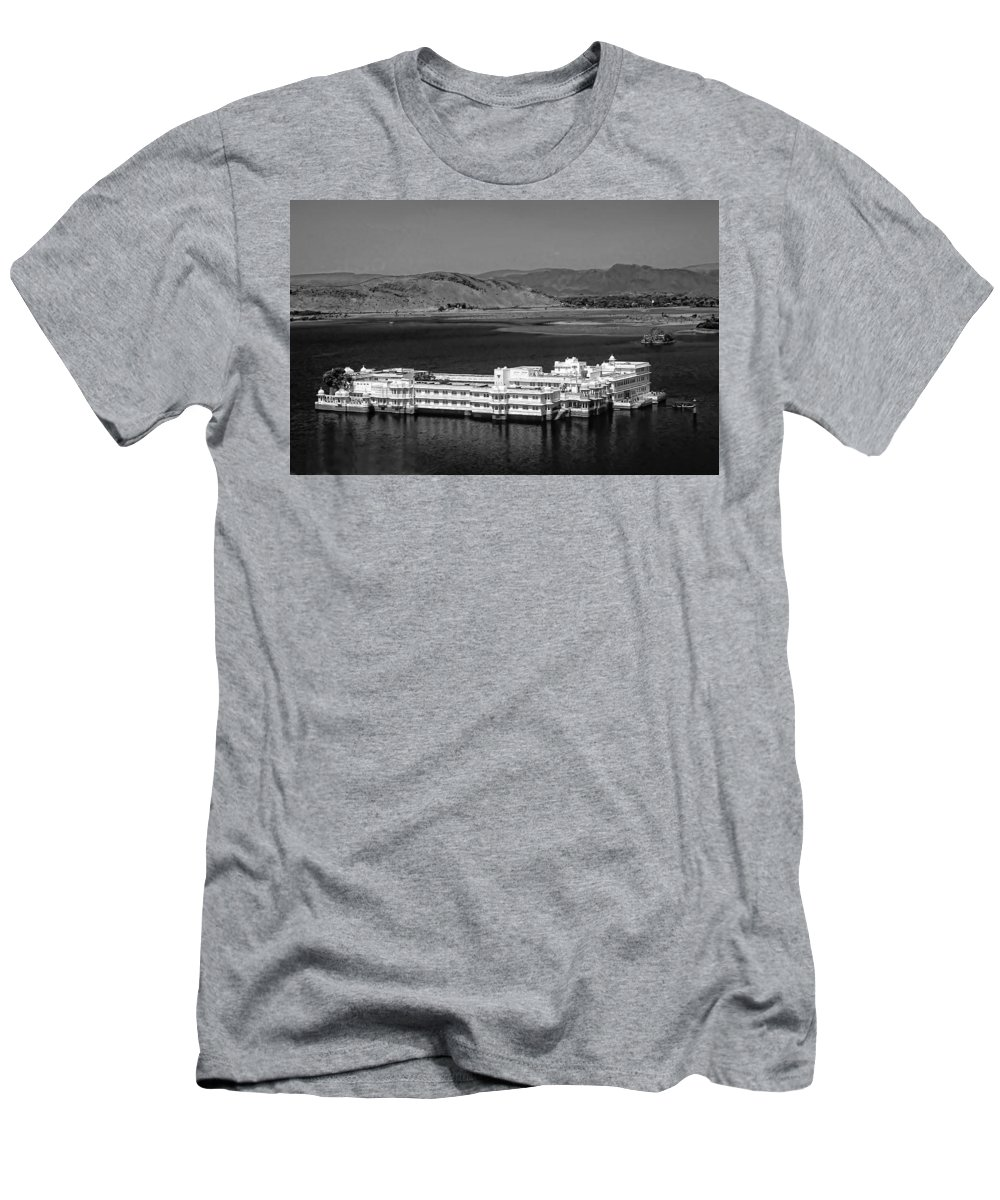 Hotel Men's T-Shirt (Athletic Fit) featuring the photograph Lake Palace Hotel by Steve Harrington